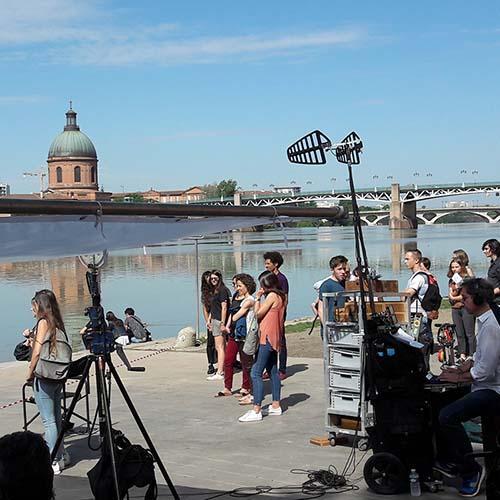 Tournage du téléfilm Mention Particulière à Toulouse